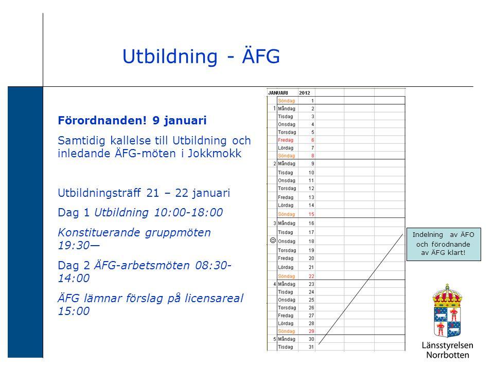 Utbildning - ÄFG Förordnanden.