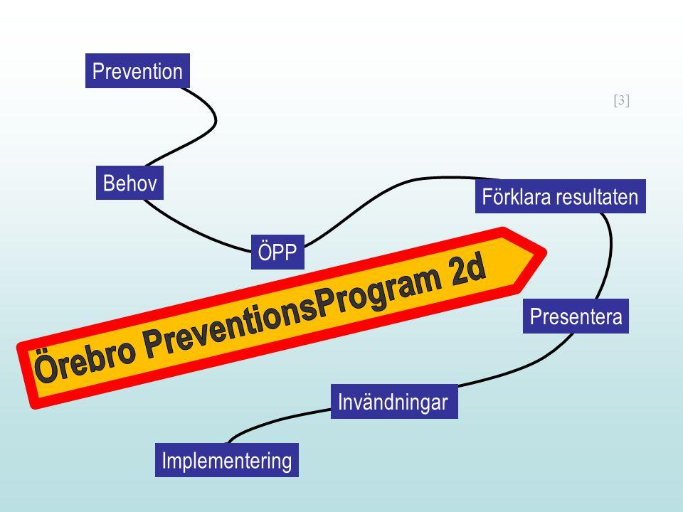 [3] Förklara resultaten Presentera Invändningar Implementering Prevention Behov ÖPP