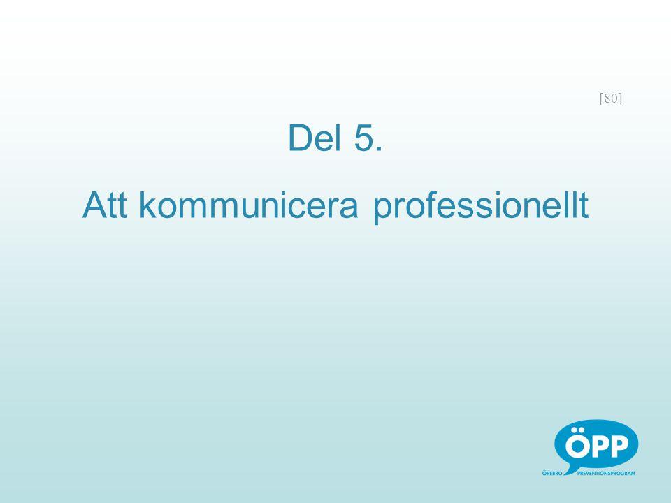 [80] Del 5. Att kommunicera professionellt