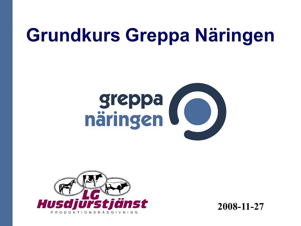 Grundkurs Greppa Näringen 2008-11-27