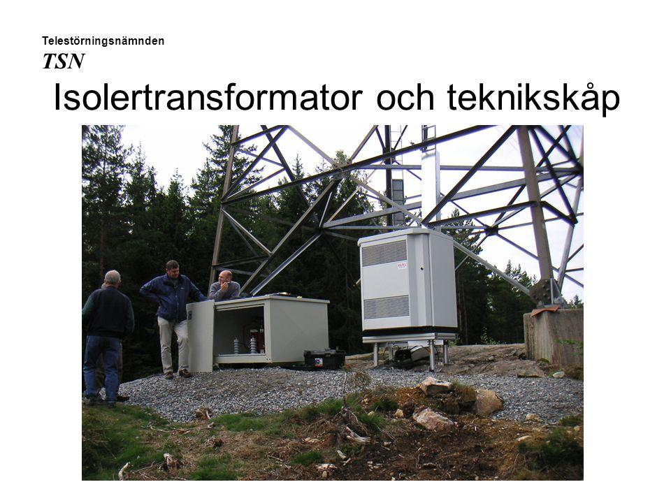 Isolertransformator och teknikskåp Telestörningsnämnden TSN