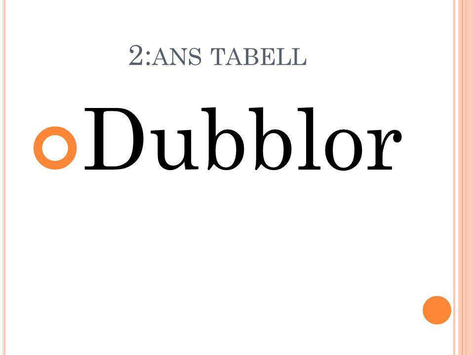 2: ANS TABELL Dubblor