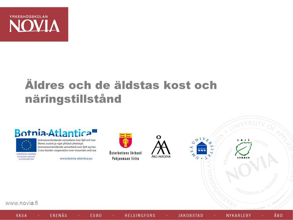 www.novia.fi Äldres och de äldstas kost och näringstillstånd