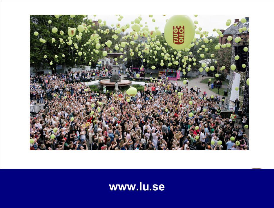 Lunds universitet / Eva Åkesson, Richard Stenelo & Lena Örnberg / 2010-06-18 www.lu.se