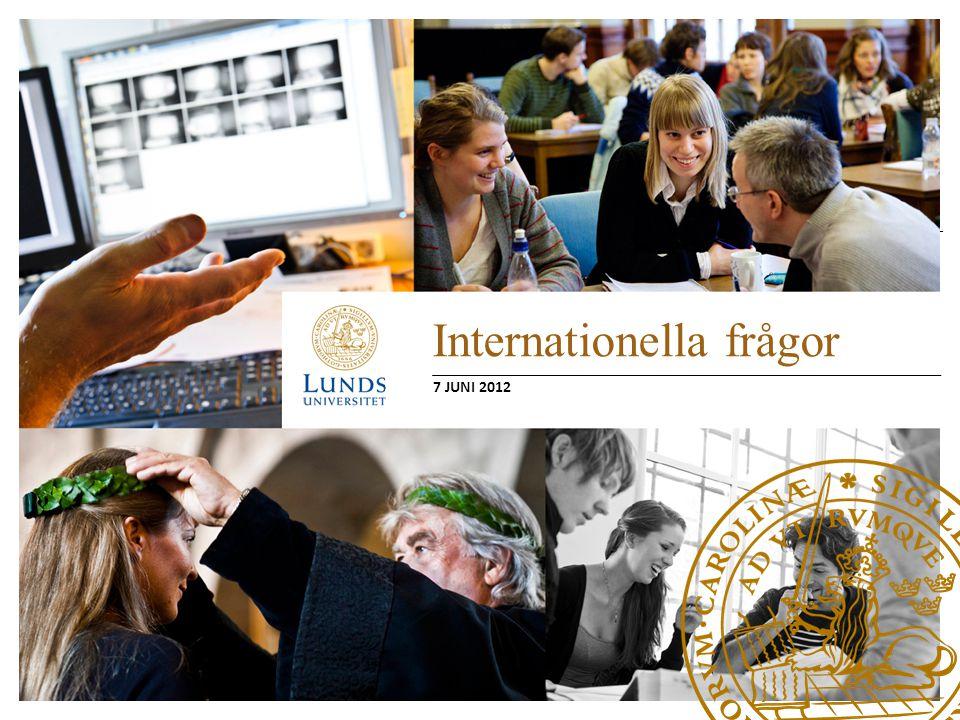 Internationella frågor Internationella masterstudenter – Avgifter, budget och integration Utresande utbytesstudenter – Hur berörs utbildningsnämnderna från ansökan om utbytesstudier till tillgodoräknande.