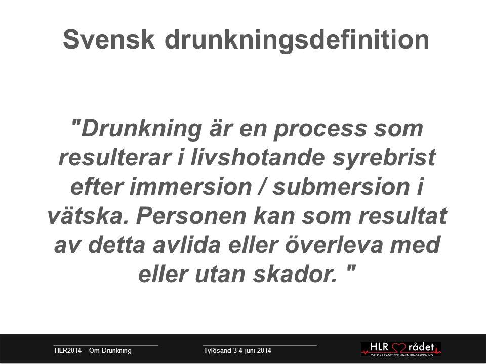 Svensk drunkningsdefinition