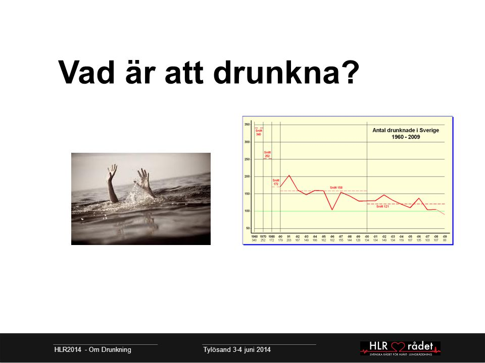 Vad är att drunkna? HLR2014 - Om Drunkning Tylösand 3-4 juni 2014