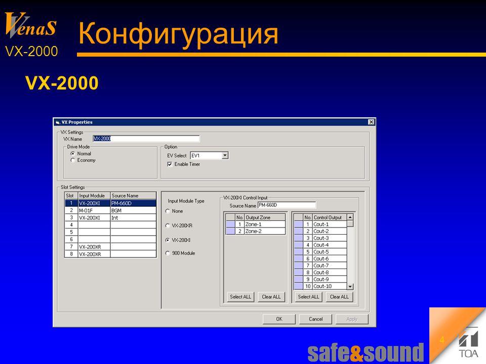 Background Design: Torsten Kranz V V ena s VX-2000 25 Управление Шаблоны неисправностей : громкоговорители