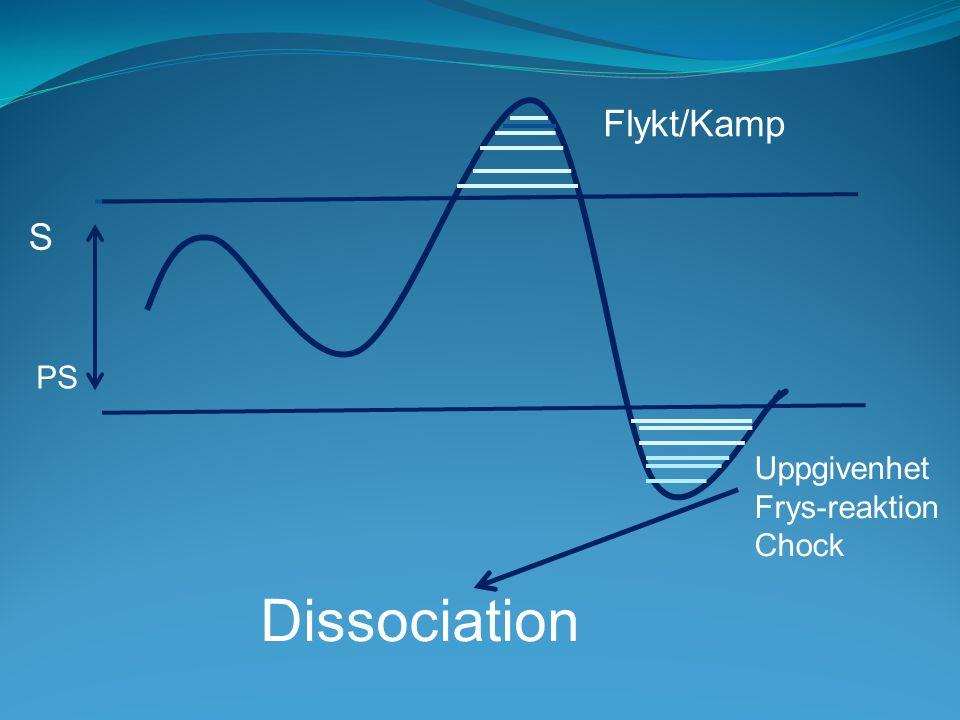 S PS Flykt/Kamp Uppgivenhet Frys-reaktion Chock Dissociation