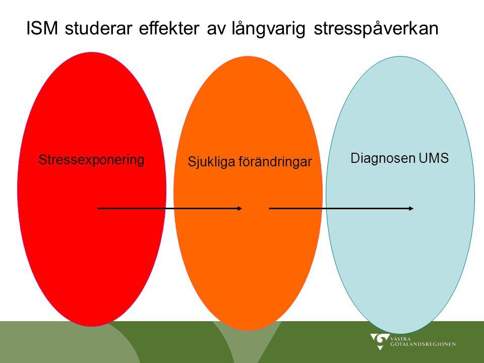 Stressexponering Sjukliga förändringar Diagnosen UMS ISM studerar effekter av långvarig stresspåverkan