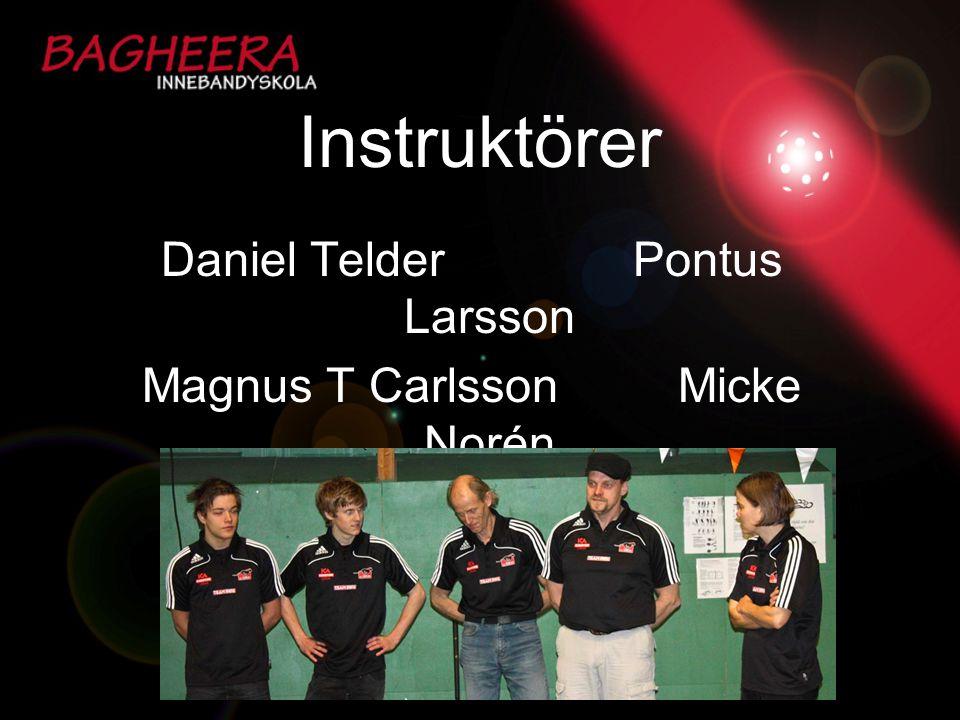 Instruktörer Daniel Telder Pontus Larsson Magnus T Carlsson Micke Norén Anna Janson
