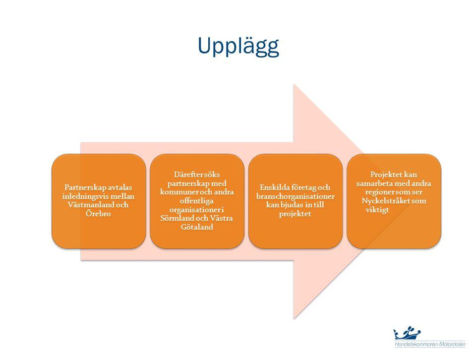 Upplägg Partnerskap avtalas inledningsvis mellan Västmanland och Örebro Därefter söks partnerskap med kommuner och andra offentliga organisationer i S