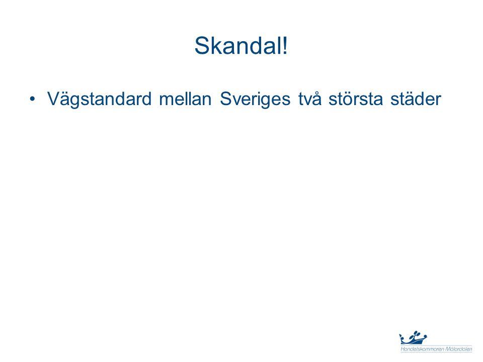 Skandal! Vägstandard mellan Sveriges två största städer