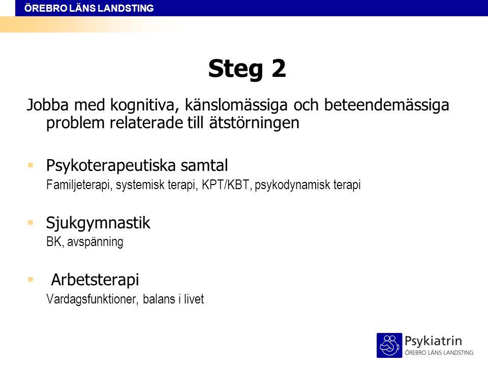 ÖREBRO LÄNS LANDSTING Steg 3  Avslutning  Uppföljning/Vidmakthållande  Återfallsprevention