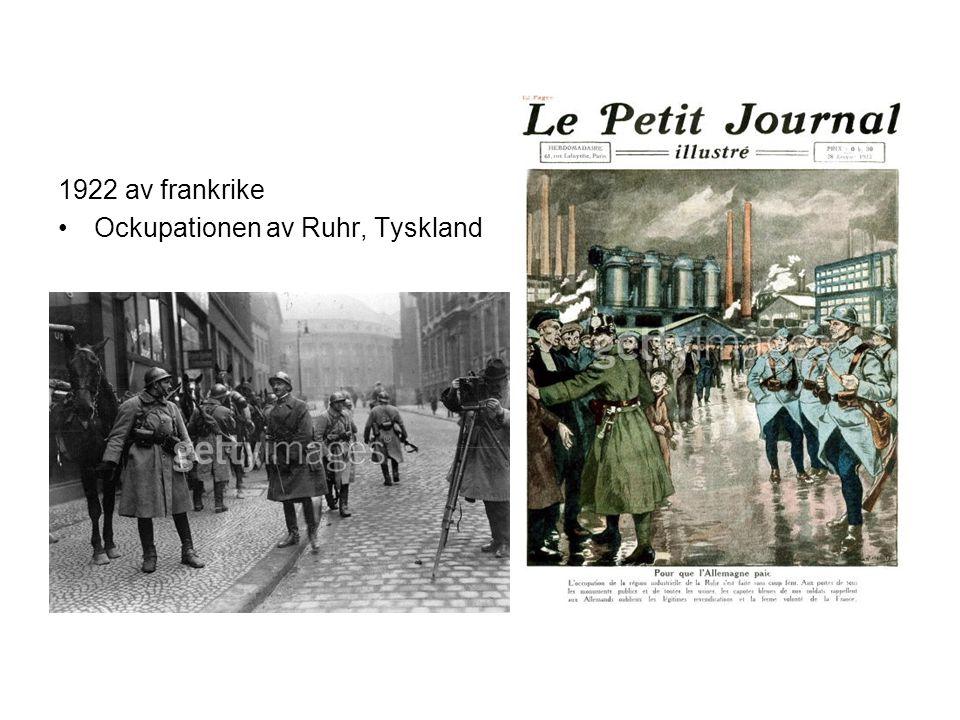 1922 av frankrike Ockupationen av Ruhr, Tyskland