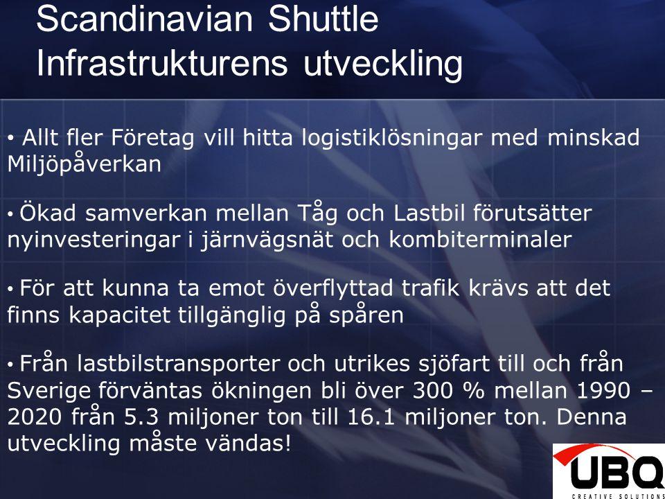 Scandinavian Shuttle Infrastrukturens utveckling 28 Allt fler Företag vill hitta logistiklösningar med minskad Miljöpåverkan Ökad samverkan mellan Tåg