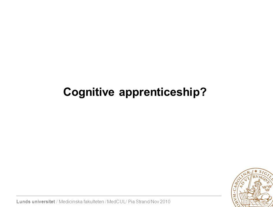 Cognitive apprenticeship?