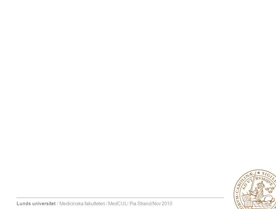 Lunds universitet / Medicinska fakulteten / MedCUL/ Pia Strand/Nov 2010 Klinisk handledning Syfte Främja professionell utveckling Trygga patientens säkerhet (Kilminster et al 2000, 2007)