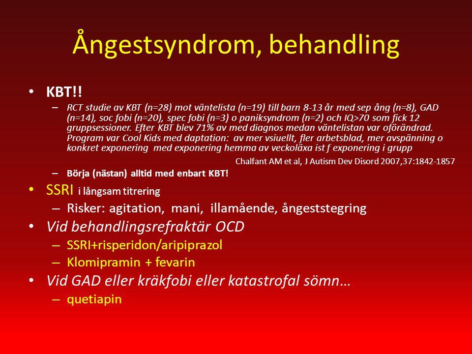 Ångestsyndrom, behandling KBT!.