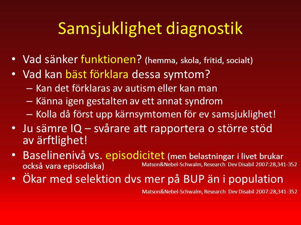 Samsjuklighet diagnostik Vad sänker funktionen.