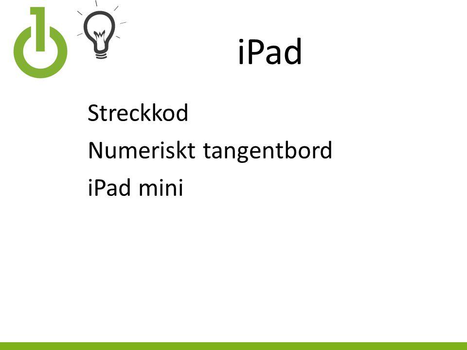 iPad Streckkod Numeriskt tangentbord iPad mini