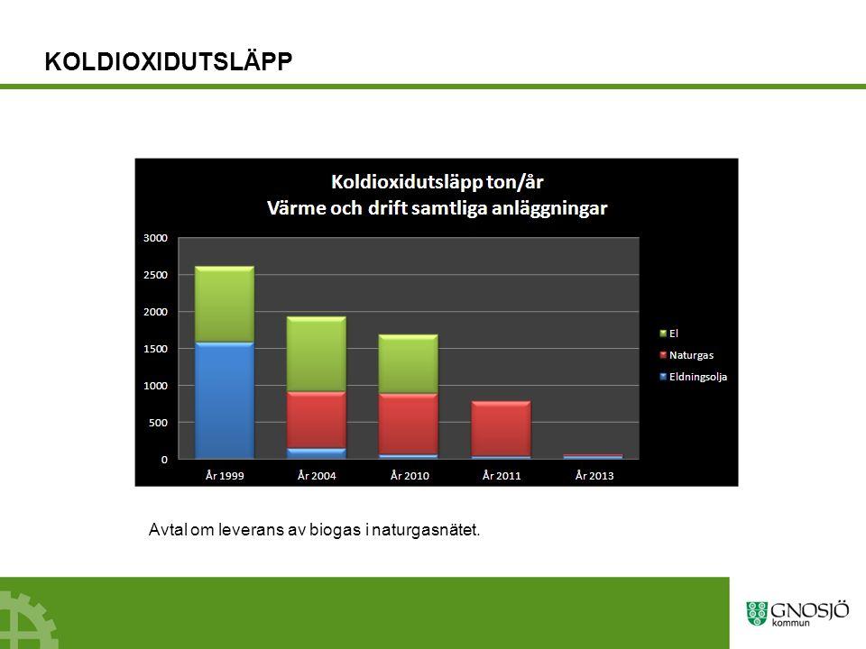 Julbelysning 2 800 lampor utbytta från 15 W till 1,2 W led (Samtliga lampor i elljusstakar byttes ut 2009 till 0,1 W)