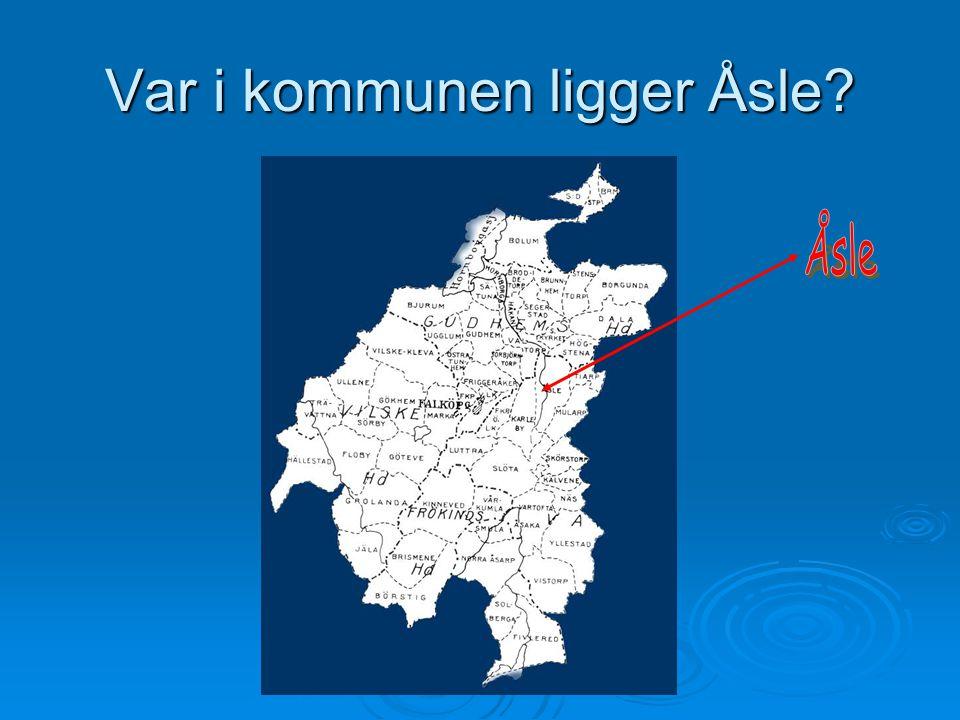 Var i kommunen ligger Åsle?