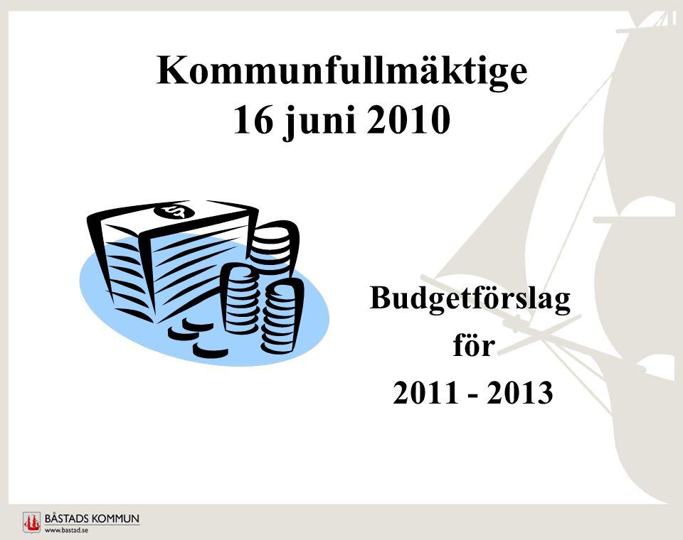 Kommunfullmäktige 16 juni 2010 Budgetförslag för 2011 - 2013