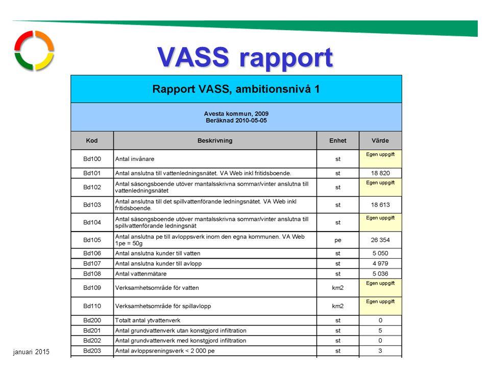 januari 2015 Sid 12 VASS rapport