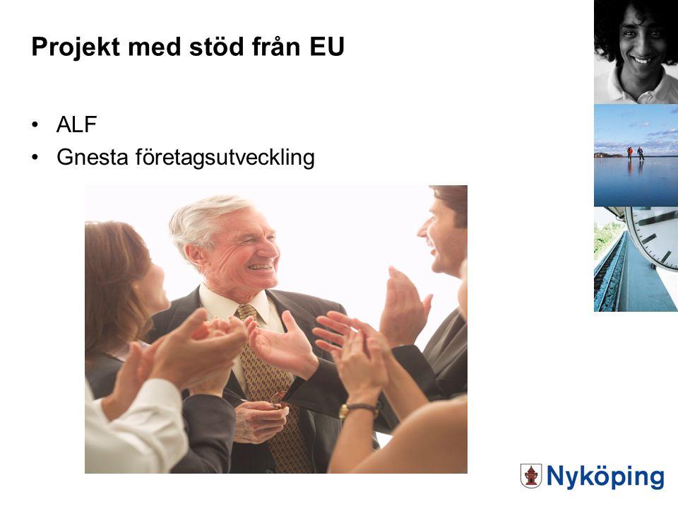 Projekt med stöd från EU ALF Gnesta företagsutveckling