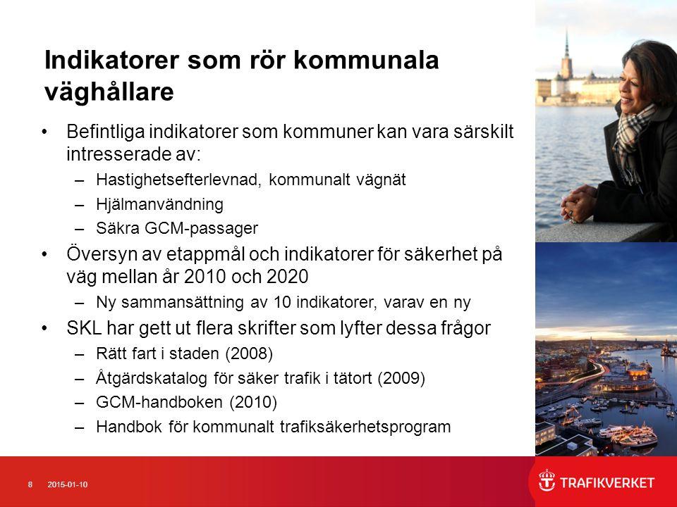 Redovisning av planering inför 2013 Trafikkontoret Stockholms stad Aktiviteter i verksamhetsplan för 2013 kopplat till någon utav de tio indikatorerna/ GNS ställningstagande för 2013: - Fortsatt arbete med hastighetsplaner - Påbörja genomförande av åtgärder enligt den antagna Cykelplanen, inklusive arbete med att förbättra drift och underhåll - Åtgärder vid prioriterade övergångsställen - Åtgärder vid prioriterade skolor med fokus på goda gång- och cykelförhållanden - Fortsatta mätningar hastigheter i Stockholm Förväntade resultat/ uppsatta mål för aktiviteterna ovan - Antagna hastighetsplaner för tre områden, förslag hastighetsplaner tre nya områden, åtgärdsplan för genomförande av antagna planer - Cykelplanen, genomförande av åtgärder för 120 miljoner kronor - Ett antal hastighetssäkrade gång- och cykelpassager Områden lämpliga för samverkan under 2013.