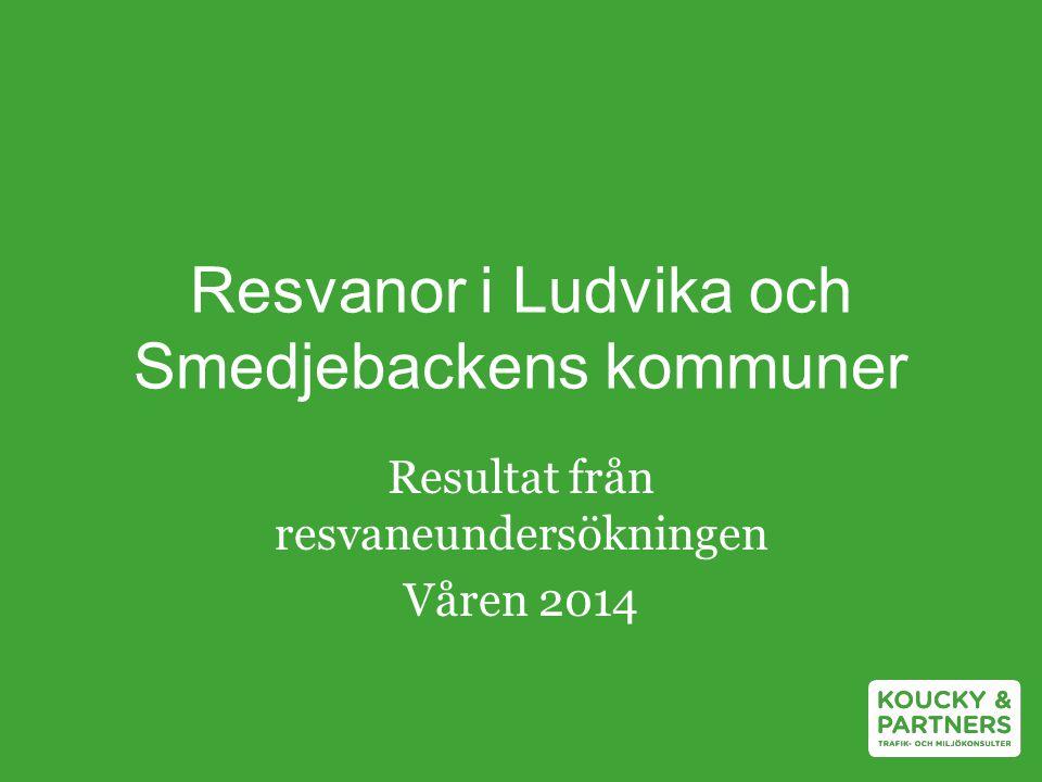 Resvanor i Ludvika och Smedjebackens kommuner Resultat från resvaneundersökningen Våren 2014
