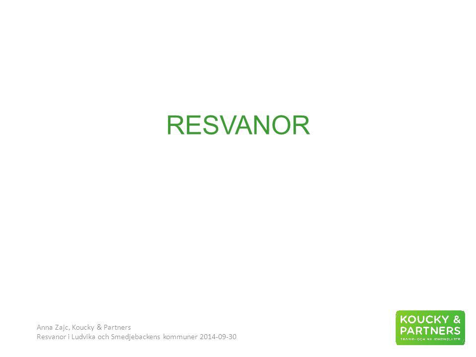 RESVANOR Anna Zajc, Koucky & Partners Resvanor i Ludvika och Smedjebackens kommuner 2014-09-30