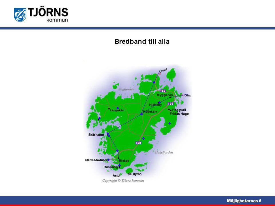 Möjligheternas ö Skanovas fiberstruktur på Tjörn Fiber till samtliga telestationer VDSL etablerat i Skärhamn Fiber på Tjörn