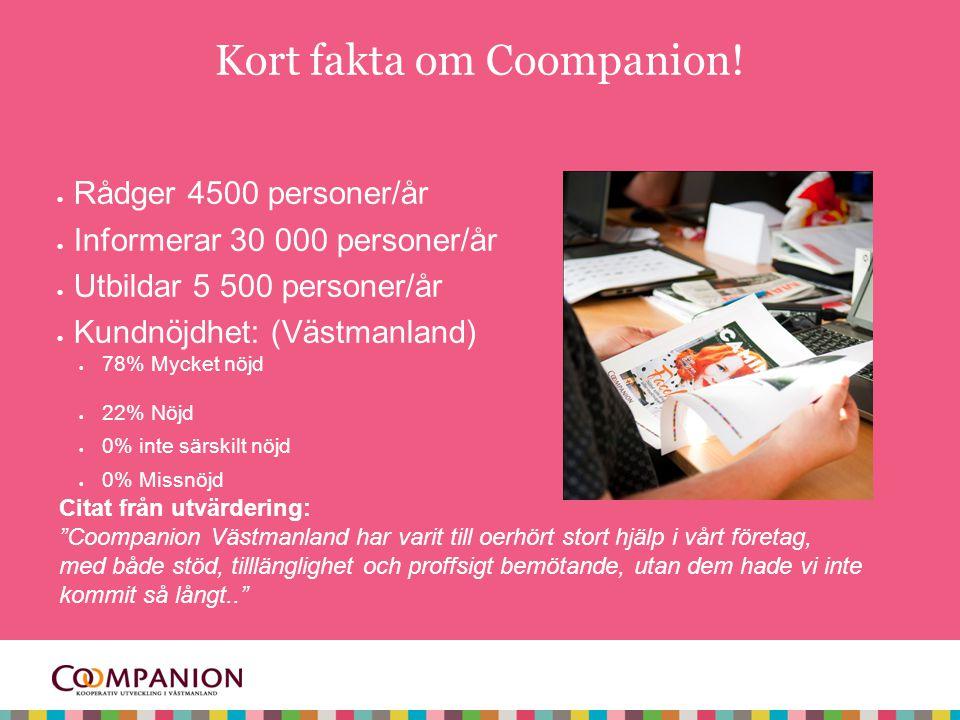 Kort fakta om Coompanion.