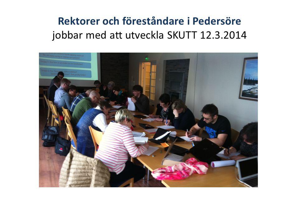 Rektorer och föreståndare i Pedersöre jobbar med att utveckla SKUTT 12.3.2014