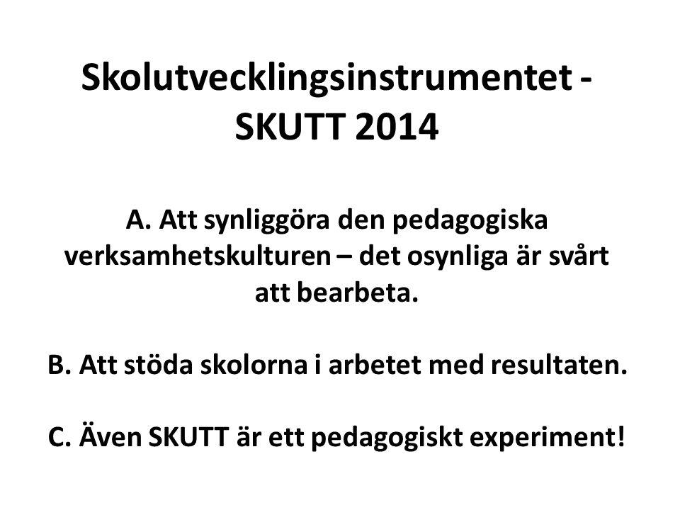 Skolutvecklingsinstrumentet - SKUTT 2014 A.