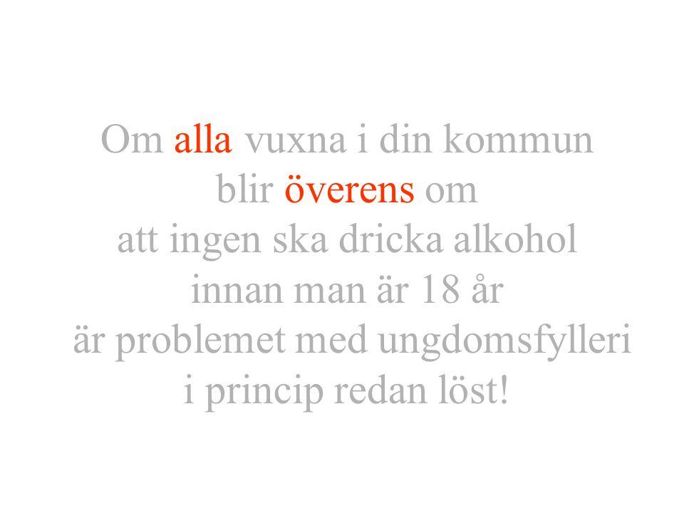 Drogförebyggare Håkan Fransson9 Resultat Öckerö kommun: