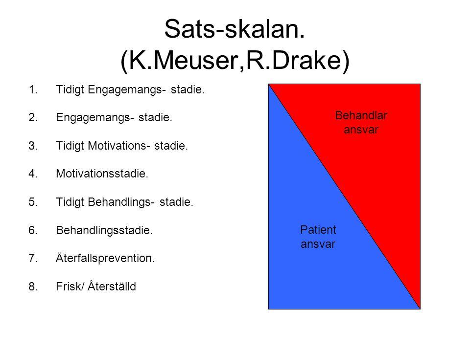 Sats-skalan. (K.Meuser,R.Drake) 1.Tidigt Engagemangs- stadie.