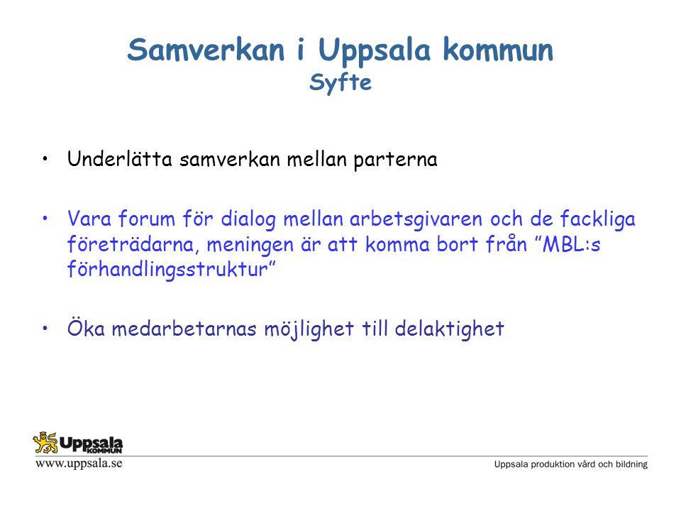 Samverkan i Uppsala kommun Syfte forts.