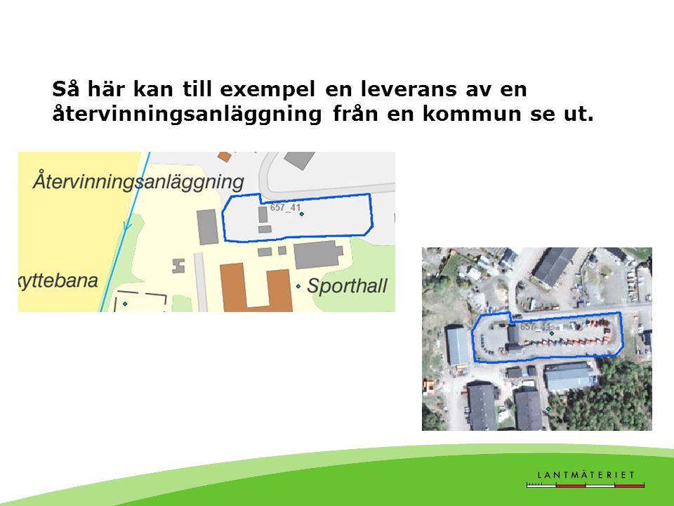 Så här kan till exempel en leverans av en återvinningsanläggning från en kommun se ut.