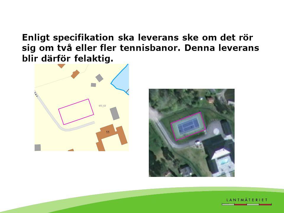Enligt specifikation ska leverans ske om det rör sig om två eller fler tennisbanor.