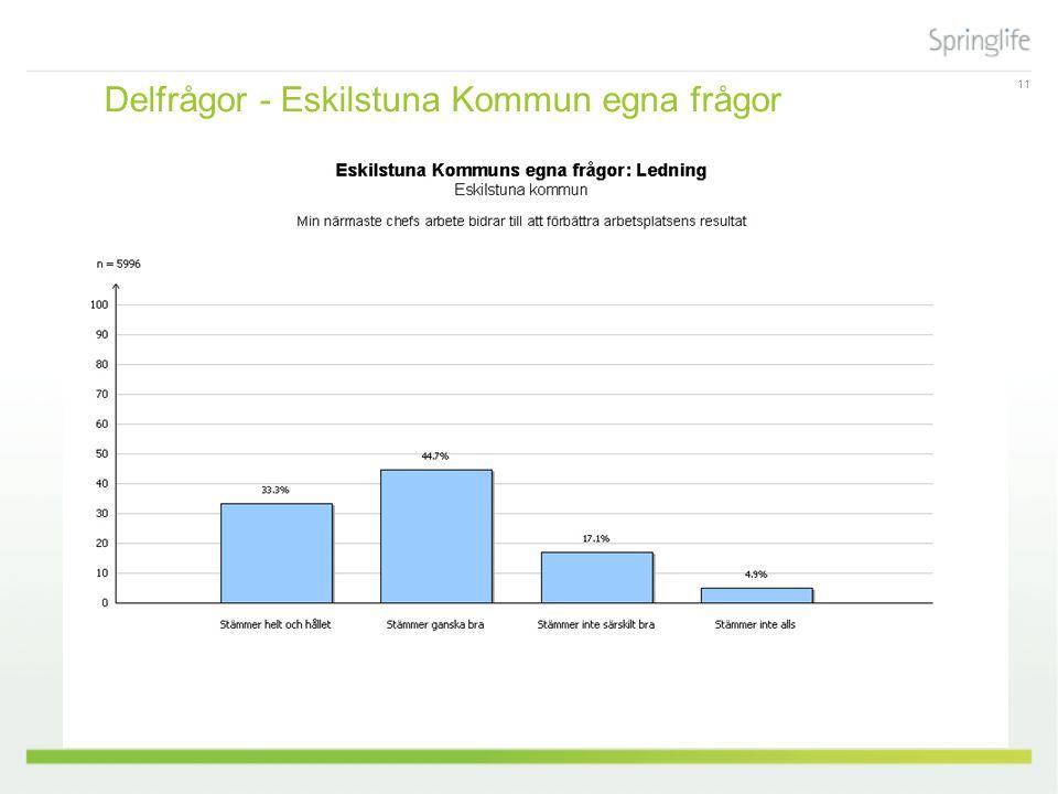 11 Delfrågor - Eskilstuna Kommun egna frågor