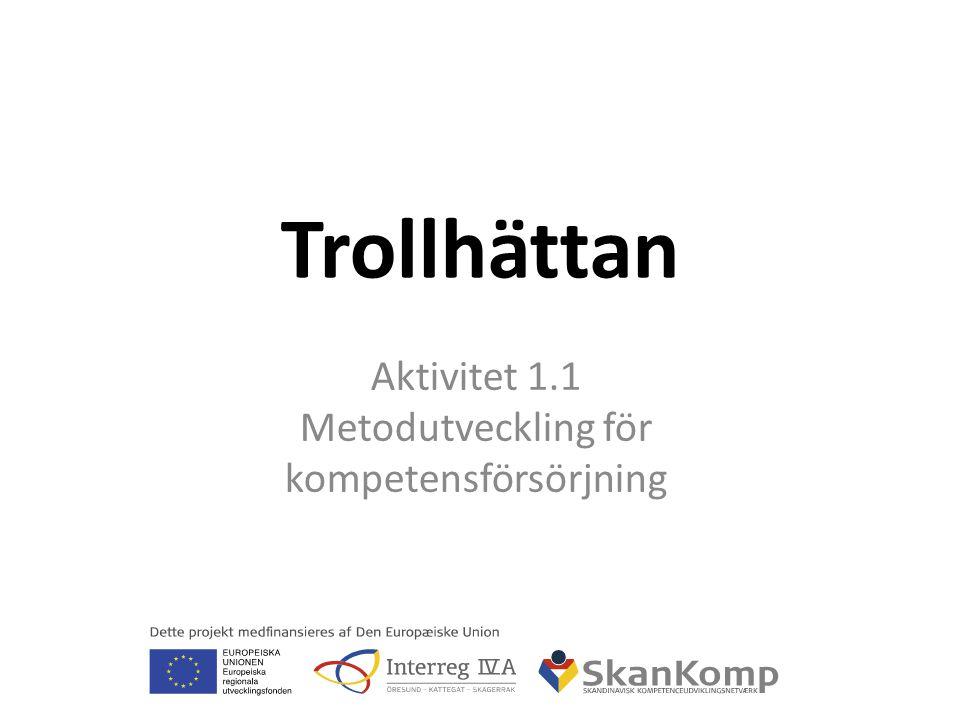 Trollhättan Aktivitet 1.1 Metodutveckling för kompetensförsörjning