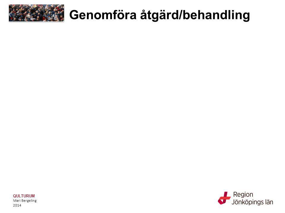 QULTURUM Mari Bergeling 2014 Genomföra åtgärd/behandling