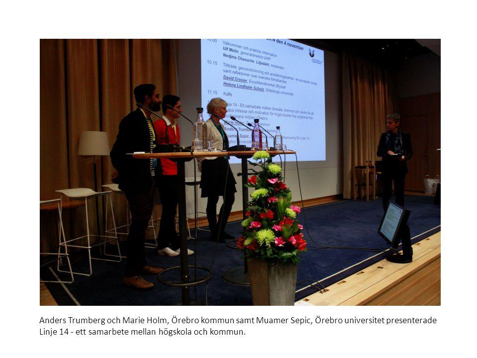 Sv Muamer Sepic, Örebro universitet om Linje 14 – ett samarbete mellan högskola och kommun