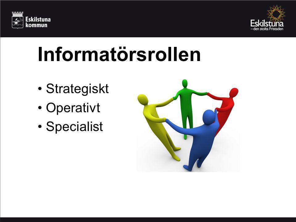 Strategiskt Operativt Specialist Informatörsrollen