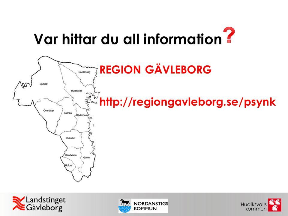 Var hittar du all information REGION GÄVLEBORG http://regiongavleborg.se/psynk