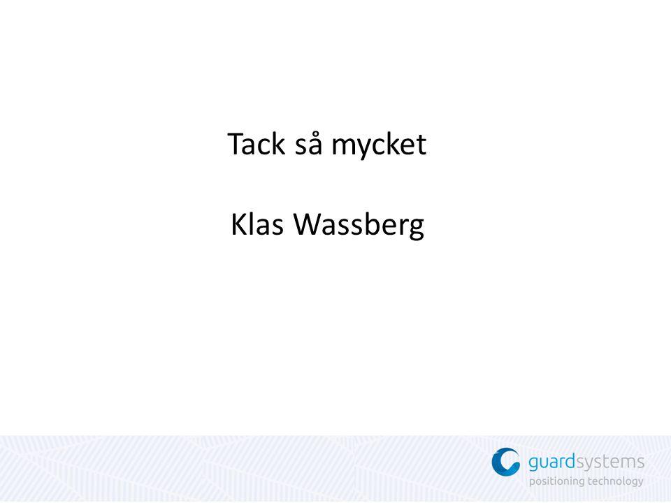 Tack så mycket Klas Wassberg