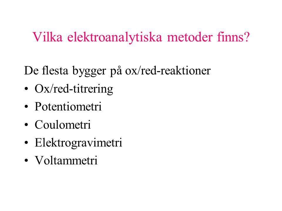 Vilka elektroanalytiska metoder finns.